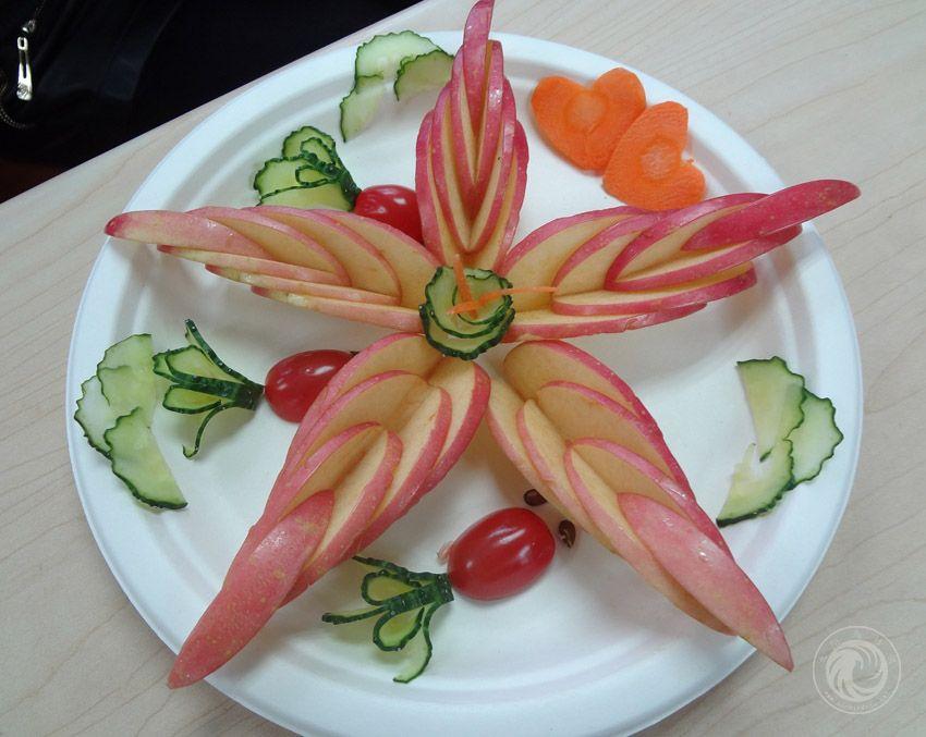 苹果海星造型水果拼盘